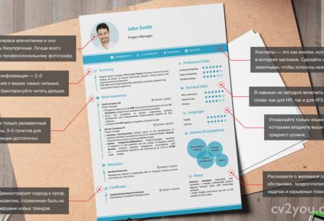 шаблон резюме проектный менеджер