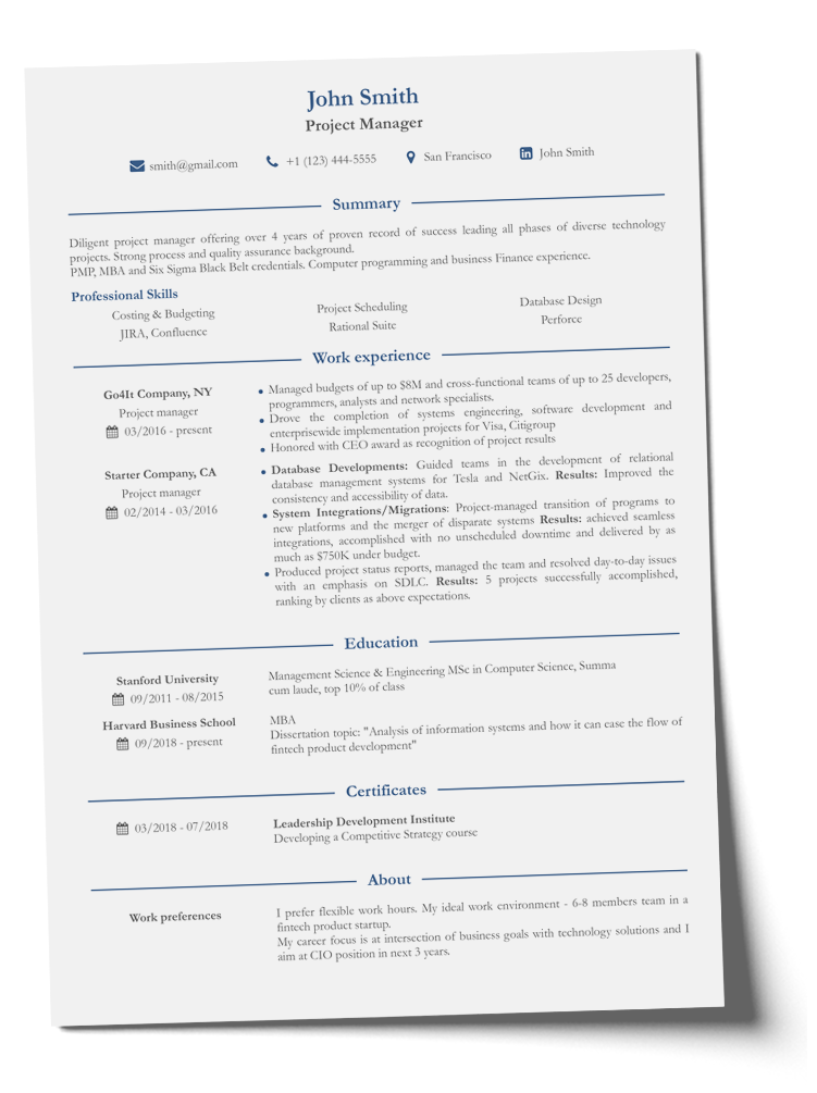 Resume Format: Why Is It So Important - CV2You