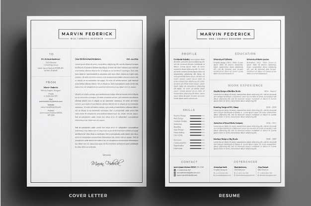 CV and Cover Letter sample