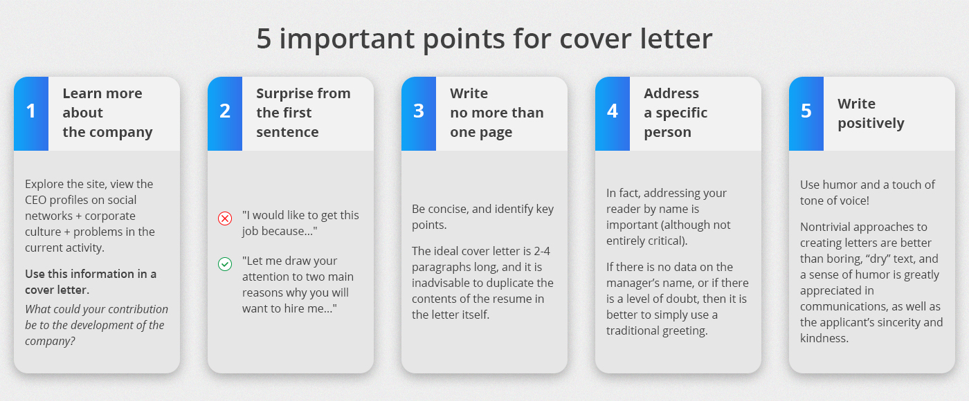5 important points for cover letter