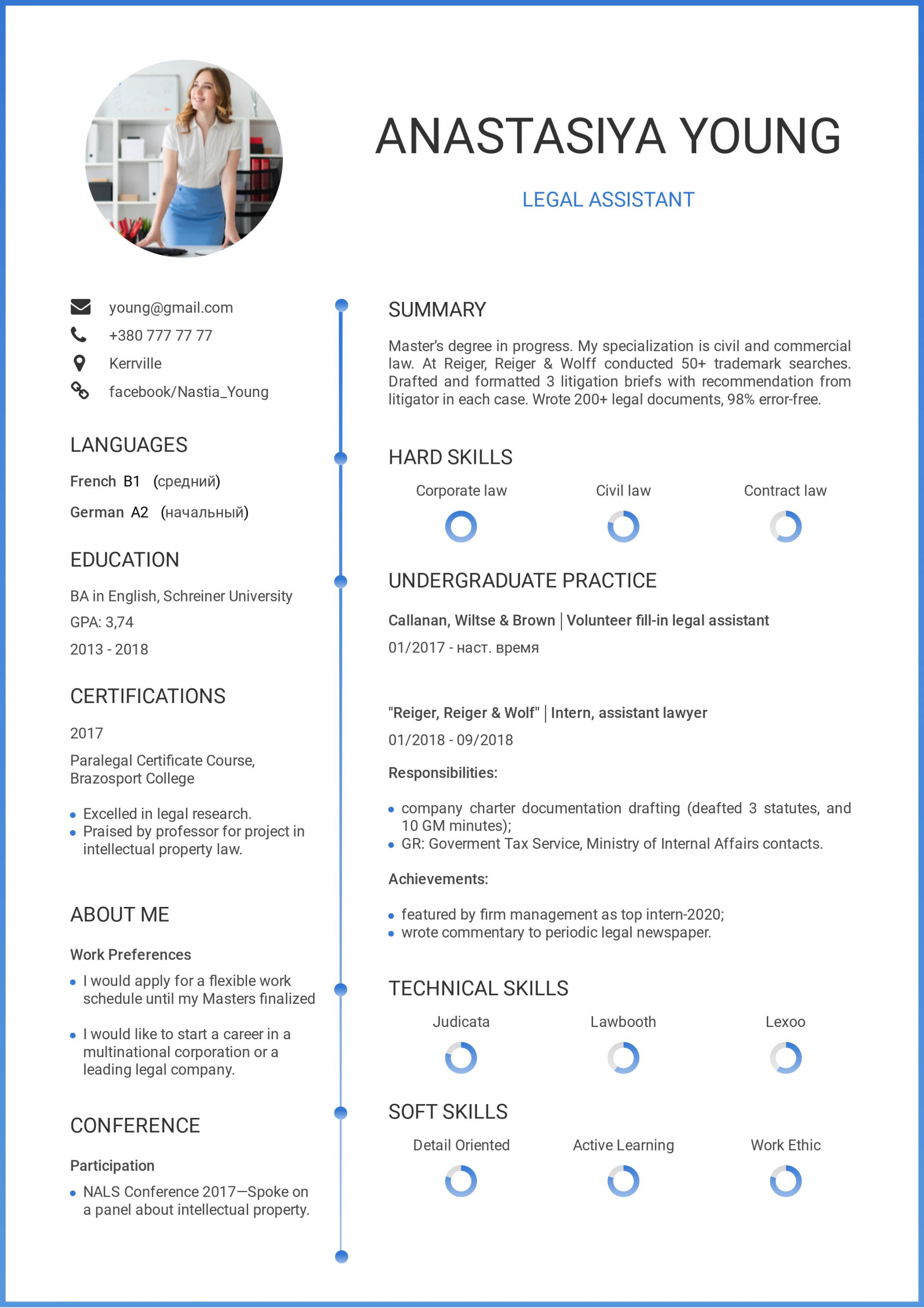 Student resume example no experience